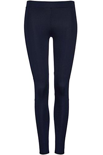 FIND Legging de Sport avec Maille Femme Bleu (Navy)