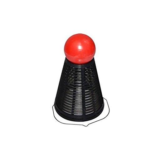 Pixnor 5pcs prfessional badminton plastica stile pesca esca gabbia trappola portacesto feeder