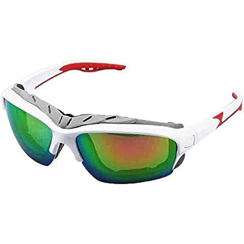 Huatuo® bicicletta Occhiali da sole Occhiali da sole sportivi, per ciclismo, corsa, sport Outdoor sci guida da golf