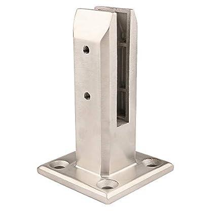 Houkiper Tenedor de la Abrazadera de la Cerca de Cristal del Clip de Cristal de barandilla del Acero Inoxidable para la Piscina