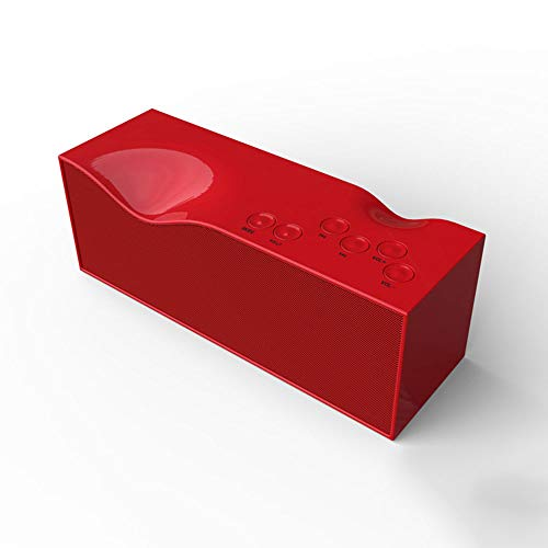 SoundCore Bluetooth-Lautsprecher Tragbarer Bluetooth 4.0-Stereolautsprecher Stilvolle, farbenfrohe kabellose Lautsprecher Ladelautsprecher und Bluetooth-Lautsprecher-Ladegerät Laute Stereoanlage,Red