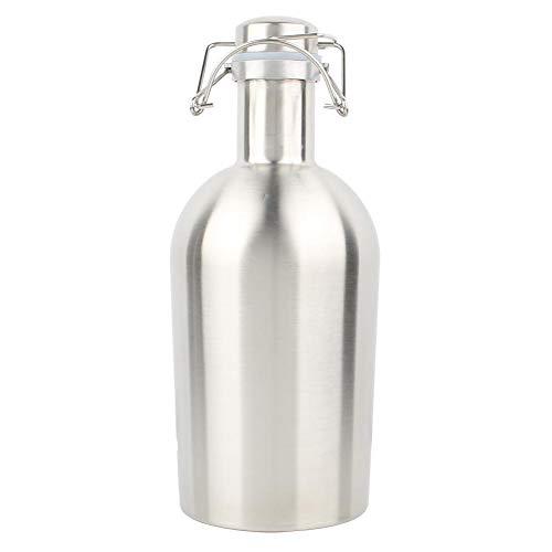 2L Portable Edelstahl Swing Cover Bier Fass Fass Schnaps Flasche Wein Topf mit Verschlussdeckel Bar Ware MEHRWEG VERPACKUNG socialme-eu -