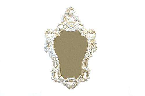Miroir Or Blanc Miroir mural style louis xvi imitation vintage ameublement baroque cm 75 x 49