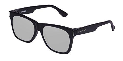 HAWKERS · SUNSET · Carbon Black · Silver  · Herren und Damen Sonnenbrillen