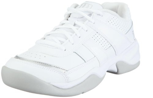 Wilson Pro Staff Court WRS984700050, Damen, Sportschuhe - Tennis, Weiss (White/Silver), EU 38 1/3 (UK 5) (US 7)
