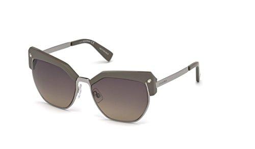 Dsquared2 Unisex-Erwachsene DQ0253 57B 56 Sonnenbrille, Beige Luc/Fumo Grad