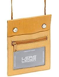 Pochette de sécurité LEAS en cuir véritable, marron clair - ''LEAS Travel-Line''
