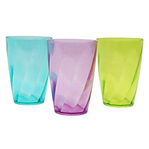 Belle Vous Set 9 Vasos Plástico coloreado 450 ml