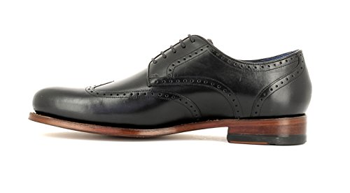 Gordon & Bros Herrenschuhe Levet 5428 Klassischer rahmengenähter Schnürhalbschuh mit Oxford Schnürung im Brogue Stil für Anzug, Business und Freizeit torino black leather