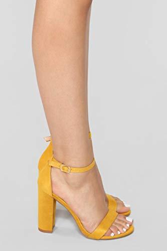 SHOFIEE Womens Party WEAR & Casual WEAR Block Heels (38, Yellow)