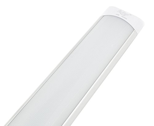 confronta il prezzo PLAFONIERA LED 40W WATT LUCE FREDDA 120CM SLIM SMD SOFFITTO 220V LAMPADA SILVER miglior prezzo