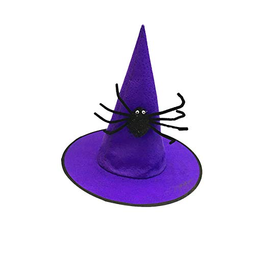 Bestoyard halloween cappello da strega per bambina costume per bambine per halloween travestimento halloween bomboniere -purple