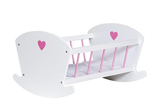Glow2B Germany GmbH 1000522 - Cuna para muñecas (Madera, Incluye colchón, edredón y Almohada)
