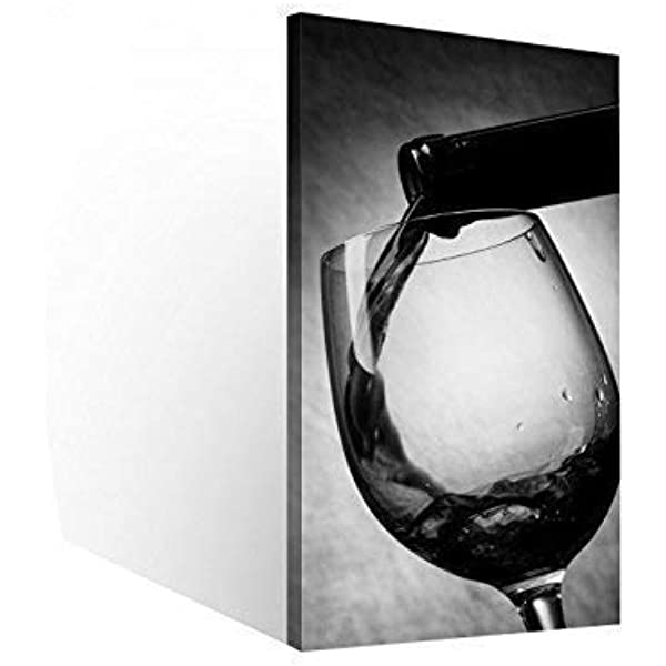 Leinwand-Bild Keilrahmen-Bild Rot Weiss Wein-Trauben Küche Flasche Fass Deko
