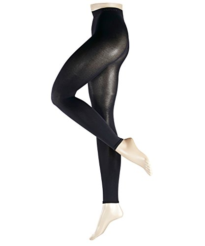Esprit Damen Leggings Cotton 1 Paar - 58% Baumwolle - blau - Größe 36-38 Blickdicht -Leggins Damenleggings -
