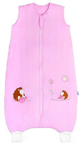 Schlummersack Schlafsack mit Füßen für den Sommer in 1 Tog - Pink Igel - 24-36 Monate/100 cm
