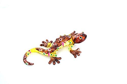 Gecko amarillo marrón s-Cristal Animales Salamandra Cristal Amari