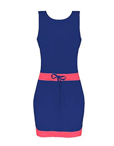 Damen Eleganter Trägerlos Blouse Fashion Sommerkleid Strandkleid Minikleid Blusenkleid Freizeitkleider Pastell Blau