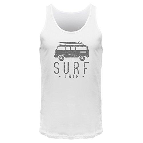 FABTEE Surf-Trip - Surfer Tank Top Träger Shirt Männer Dark Heather Grey