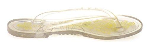 Via Uno Zehentrenner Zehensteg Plastik Pantolette Strandschuhe 20902801 Strand clear/straw