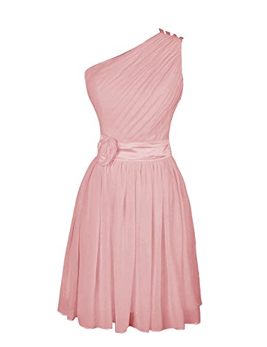 Dressystar Robe femme,Robe de soirée/de bal,courte en Mousseline Blush
