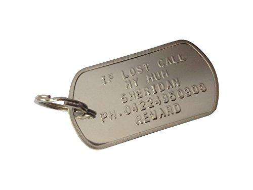Médaille Chien os acier inoxydable