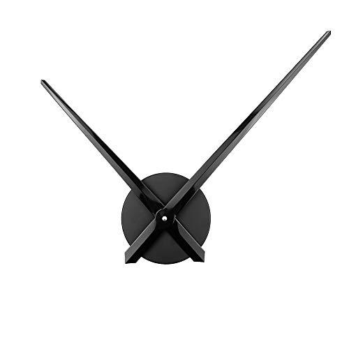Ufengke orologio da parete solo lancette grande nero orologio da muro con meccanismo al quarzo 3d fai da te, diametro 63 cm
