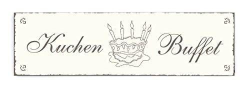 Targa per porta Kuchen Buffet, Shabby Vintage, di legno