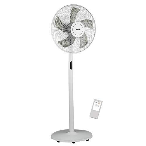 Ansio ventilatore a piantana da 16 pollici con telecomando - ventilatore verticale con 8 livelli di velocità - bianco - garanzia di 2 anni