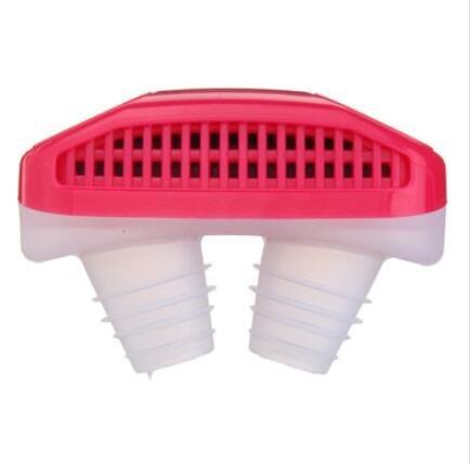 Bluelover Soft Silikon Anti Schnarchen Gerät Nasen-Dilatation Stoppen Schnarchen Nase Clip Luftreiniger - Rot