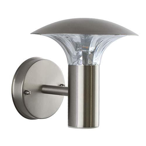 LED Aussenleuchte 5 Watt Wandleuchte Wandlampe Gartenleuchte Edelstahl 451 ohne Bewegungsmelder