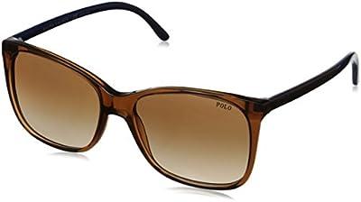 Polo Ralph Lauren 0ph4094 - Gafa de sol rectangular color marrón con lentes color marrón degradadas