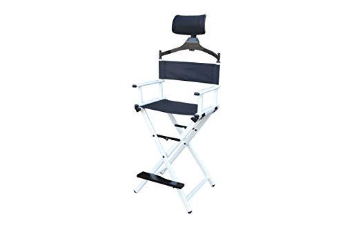 Polironeshop POLIONESHOP Look Profi Make-up Stuhl schminkstuhl regiestuhl klappstuhl Aluminium klappbar (Weiß)