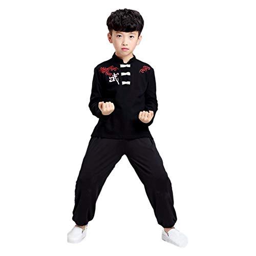 Deylaying Chinesisch Kampfkunst Kostüm - Kinder Kung Fu Tai Chi Uniform Performance Wettbewerb Kleidung (Kinder Kostüm Wettbewerb)
