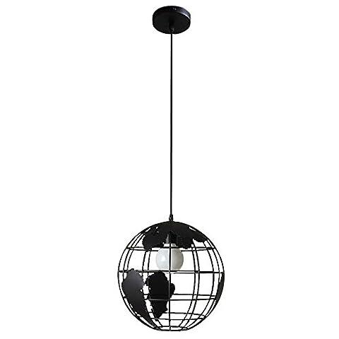 Rétro Industriel Pendentif Créatif Globe Shape Lustre 1 Lumière