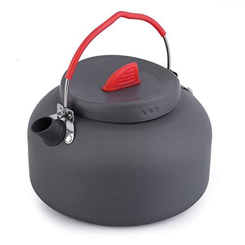 HshDUti Camping Picknick Teekanne Kaffee der Topf Kochgeschirr Tragbaren Wasserkocher im Freien Kocht Black