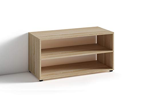 HOMEXPERTS TV Stand VANCOUVER / kleines Regal / Beistelltisch 90 cm breit / Wohnzimmertisch / Schrank / TV Bank / TV Tisch / Sonoma Eichen-Optik Braun / 90 x 45 x 39 cm (BxHxT)