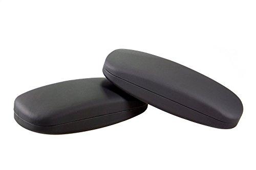 Demel Augenoptik 2 x Brillenetui für Damen und Herren – Hartschalen Etui Schwarz inkl. Mikrofasertuch für Brillen und Sonnenbrillen – Hardcase Etui Modell: Clean (Sparpaket)
