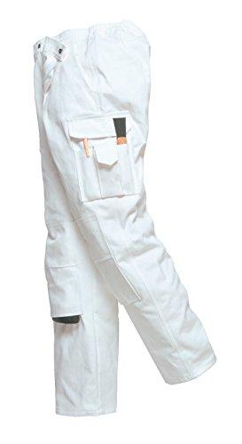 Portwest Malerhose, Bundhose, Arbeitshose, Maler (M, weiß)