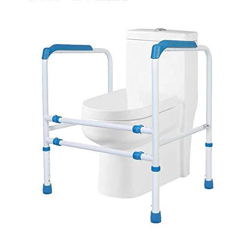 Stand-alone-wc-schiene - Medical Bathroom Safety Assist-rahmen Mit Haltegriffgriffen Und -geländern Für Senioren, Senioren, Behinderte Und Behinderte -,Blue -