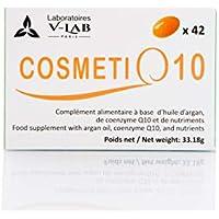 V-Lab CosmetiQ10 42 Cápsulas Suplemento Alimenticio Q10 Argan