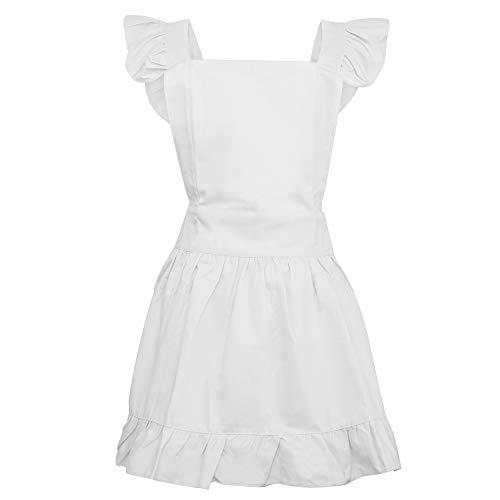 aspire Coton rétro réglable à Volants Tabliers de Cuisine Cuisson Adultes et Enfants Costume, Blanc, Toddler