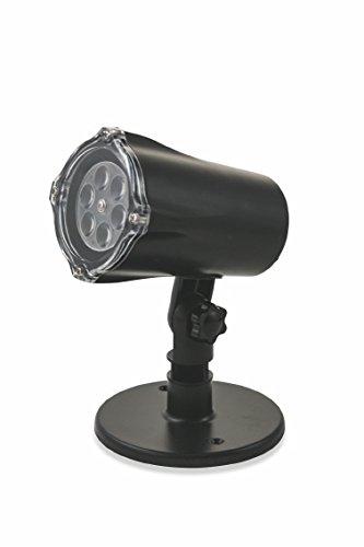 Kooper 2191589 Proiettore LED Uso Interno Stelle Oro, Metallo e Plastica, Nero