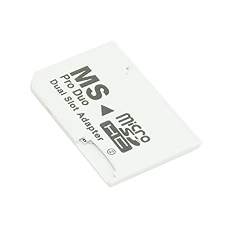 chenyang Dual Slot MicroSD TF zu MS Memory Stick Pro Duo Adapter Sony PSP & Handy