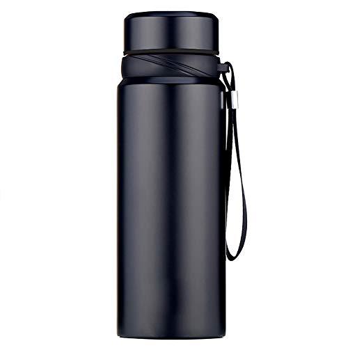 xMxDESiZ 750 / 1000ml tragbare Outdoor-Kaffee-Flasche Vakuumflasche Tee Wasser Tasse Thermobecher Schwarz 750ml