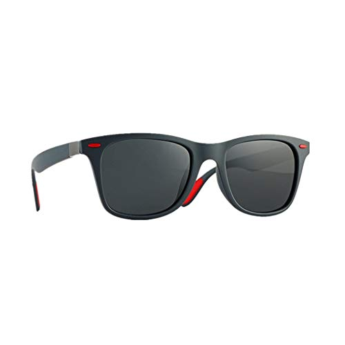 iCerber Herren Vintage Sonnenbrille, Nerd Sonnenbrille polarisiert - UV400 Classic Quadratische Sonnenbrille im angesagte 60er Browline-Style ☆Mitgliedertag★
