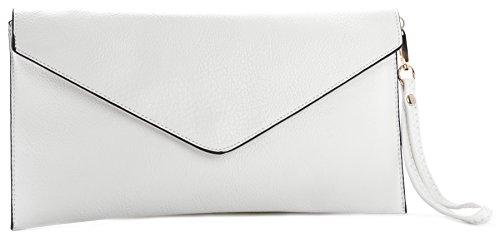 BHBS Femmes Enveloppe en Forme de Mariage Parti Pochette Avec Longue Bandoulière 32x17 cm (LxH)