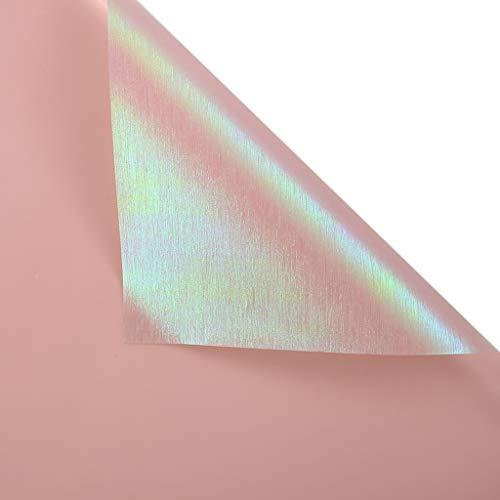Packpapier Geschenkpapier, glänzende Blumenladen Blumen Wrapper Dekorpapier Innenwand Desktop Dekorpapier, 60 * 60CM LiuJF (Color : #5)