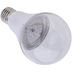 MagiDeal Pflanzenlampe LED Wachstumslampe Pflanzenleuchte Pflanzenlicht kompatibel mit Standard E27 Buchsen, 12W / 15W, Rot / Warmweiß - Warmes Weiß_15W