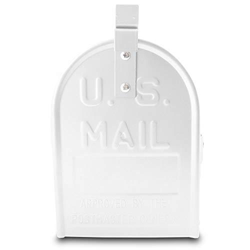 US Mailbox Amerikanischer Briefkasten Standbriefkasten Wandbriefkasten Letterbox Weiß Inclusive Wandhalter - 4